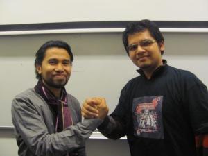 Ahmad Supriadi (Indonesian Migran Worker Union) dan Ridwansyah Yusuf (SekJend PPI Belanda)